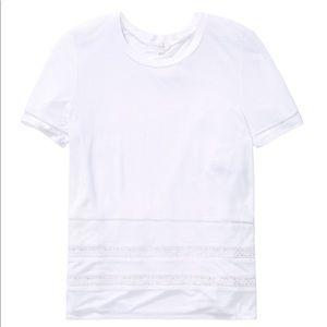 Aritzia Wilfred Reve Lace T-Shirt White Size XS